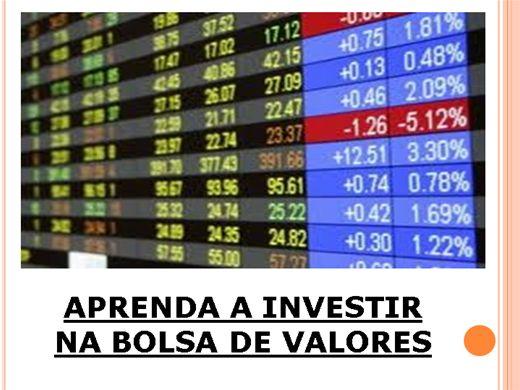 Curso Online de APRENDA A INVESTIR NA BOLSA DE VALORES