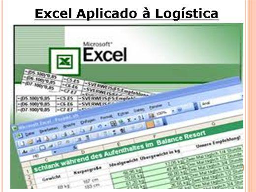 Curso Online de Excel aplicado à logística.