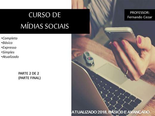 Curso Online de Mídias Sociais Parte 2 de 2 (final) - Completo