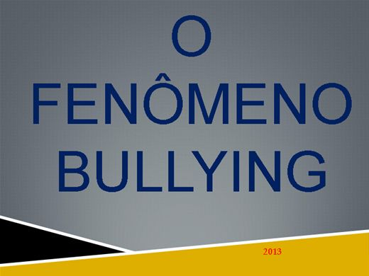 Curso Online de FENÔMENO BULLYING