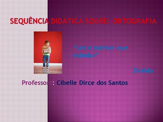 Curso Online de Sequência didática sobre ortografia