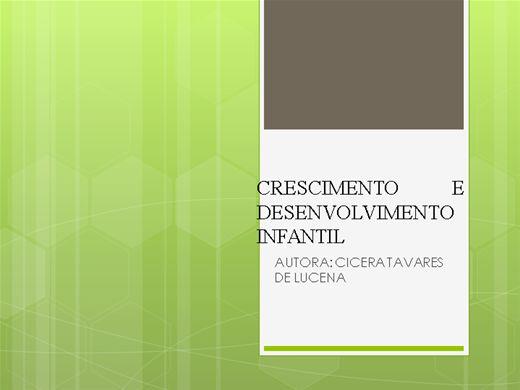 Curso Online de crescimento e desenvolvimento infantil