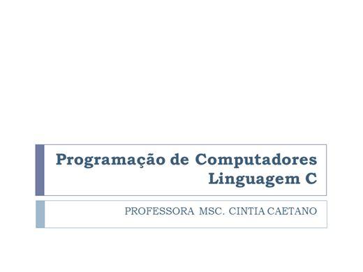 Curso Online de Curso Completo Linguagem de Programação C