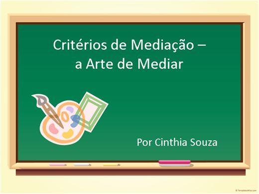 Curso Online de Critérios de Mediação - a Arte de Mediar