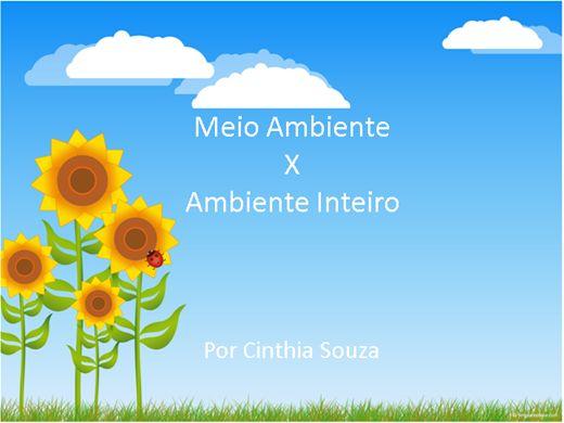 Curso Online de Meio Ambiente X Ambiente inteiro