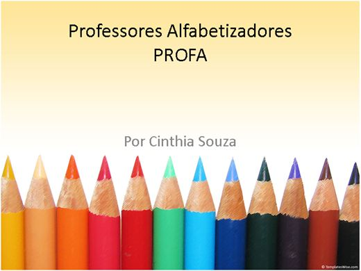 Curso Online de PROFA - Professores Alfabetizadores