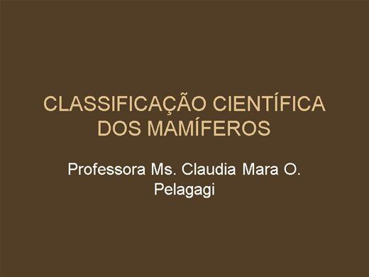 Curso Online de Classificação dos Mamíferos