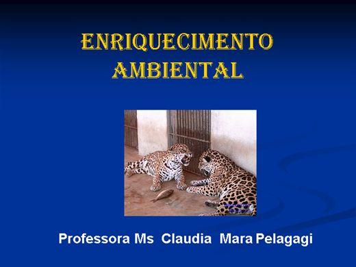 Curso Online de ENRIQUECIMENTO AMBIENTAL