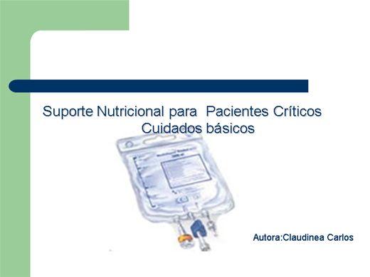 Curso Online de Suporte Nutricional para  Pacientes Críticos: Cuidados básicos