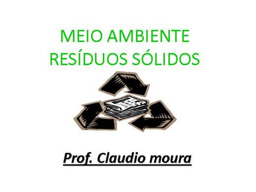 Curso Online de MEIO AMBIENTE RESÍDUOS