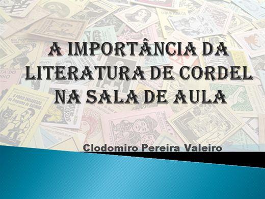 Curso Online de A IMPORTÂNCIA DA LITERATURA DE CORDEL EM SALA DE AULA
