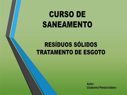 Curso Online de RESÍDUOS SÓLIDOS E TRATAMENTO DE ESGOTO