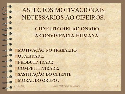Curso Online de Motivação do Cipeiro