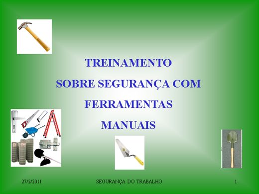 Curso Online de FERRAMENTAS MANUAIS