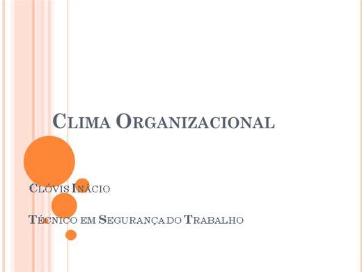 Curso Online de CLIMA ORGANIZACIONAL