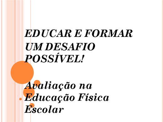 Curso Online de Avaliação na Educação Física Escolar