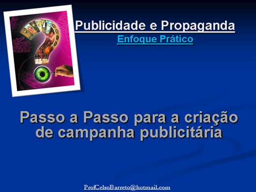 Curso Online de Publicidade e Propaganda: Crianda uma Peça Publicitária