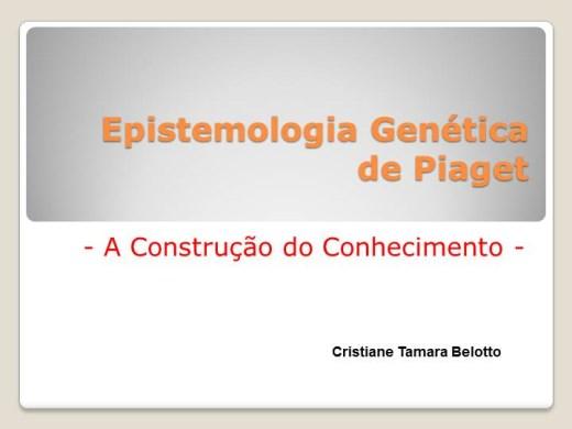 Curso Online de Epistemologia Genética de Piaget - A Construção do Conhecimento