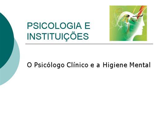 Curso Online de Psicologia e Instituições