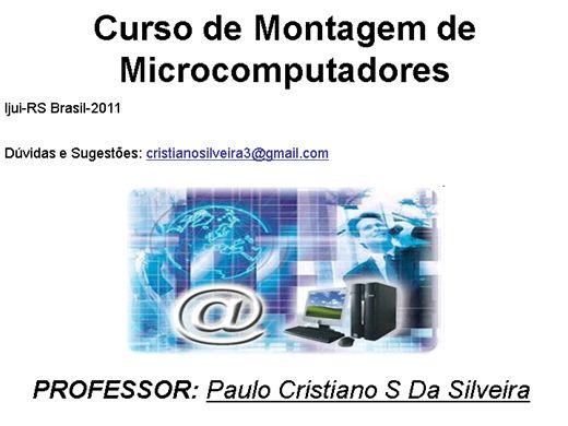 Curso Online de Curso Montagem de Microcomputadores