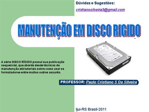 Curso Online de Manutenção de disco rígido