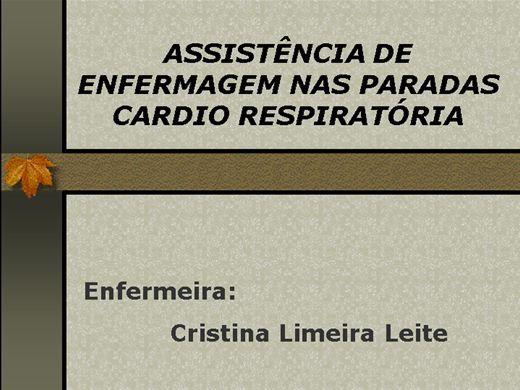 Curso Online de Assistência de Enfermagem nas Paradas cardio Respiratoria