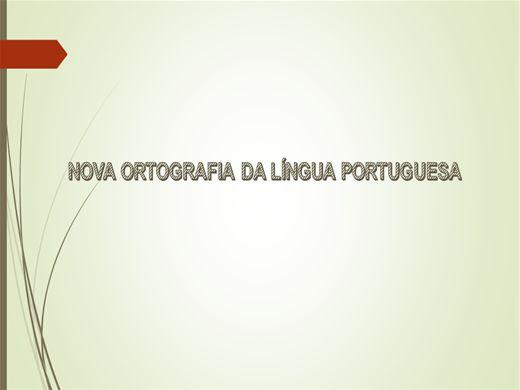 Curso Online de Nova Ortografia da língua Portuguesa