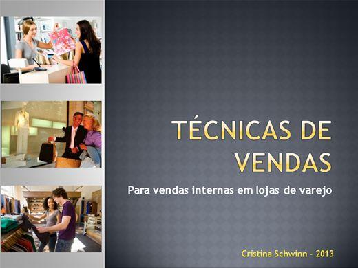 Curso Online de Técnicas de Vendas: para vendas internas em lojas de varejo