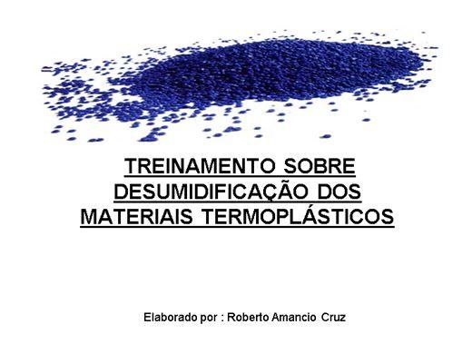 Curso Online de Cuidados na secagem de materiais poliméricos