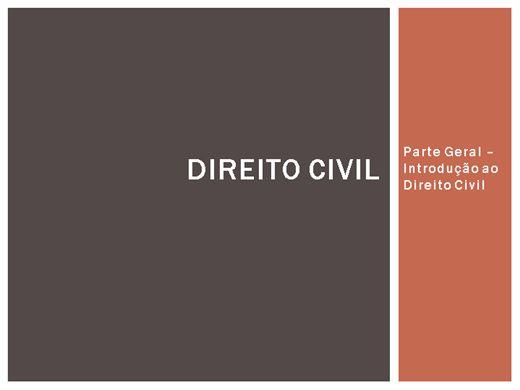 Curso Online de Direito Civil - Parte Geral