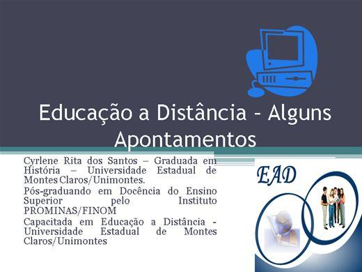 Curso Online de Educação a Distância - Alguns Apontamentos