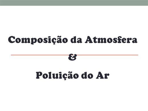 Curso Online de Composição da Atmosfera