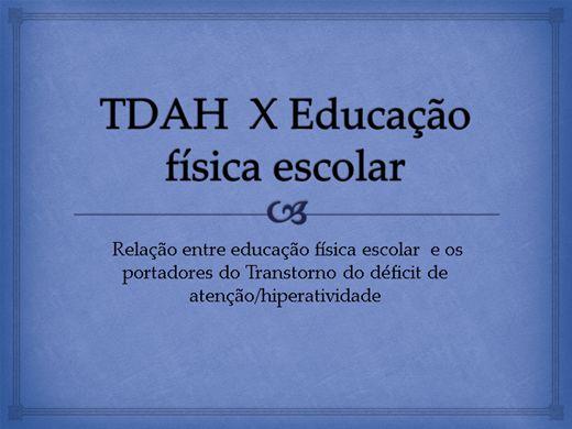 Curso Online de TDAH  nas aulas de educação física