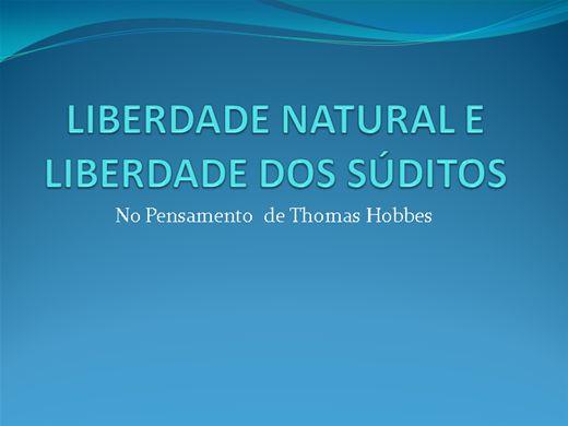Curso Online de Liberdade Natural e Liberdade dos Súditos no Pensamento de Hobbes