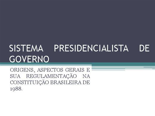 Curso Online de Sistema Presidencialista de Governo