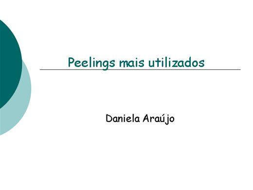Curso Online de Peelings mais utilizados