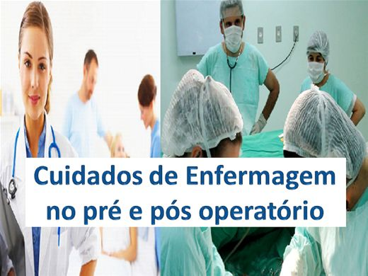 Curso Online de Cuidados de Enfermagem no pré e pós operatório