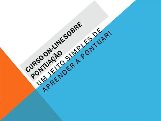 Curso Online de CURSO ON-LINE SOBRE PONTUAÇÃO