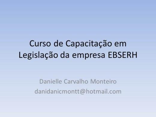 Curso Online de  Capacitação em Legislação da Ebserh