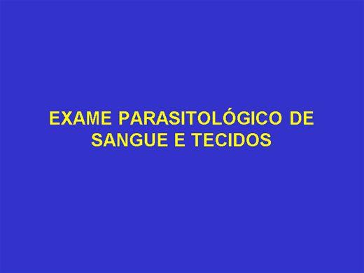 Curso Online de EXAME PARASITOLÓGICO DE SANGUE E TECIDOS