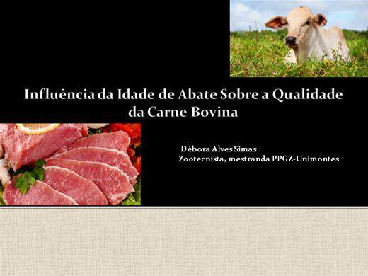 Curso Online de Influência da Idade de Abate Sobre a Qualidade da Carne Bovina