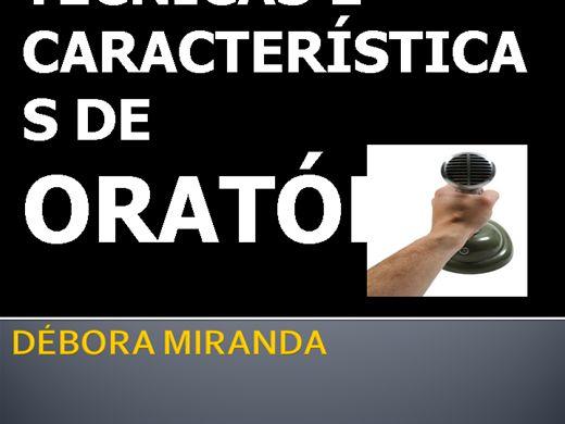 Curso Online de TÉCNICAS E CARACTERISTICAS DE ORATÓRIA
