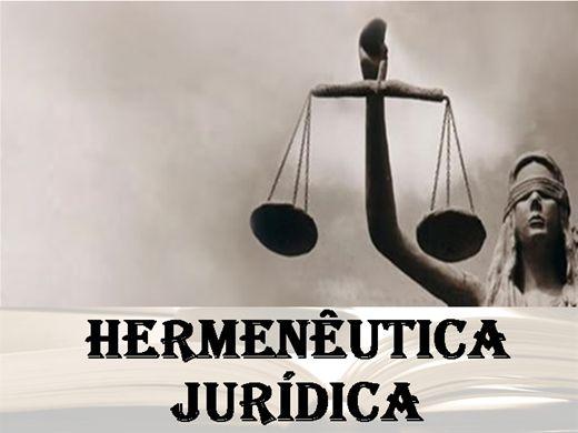 Curso Online de Hermenêutica Jurídica