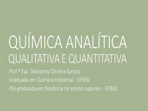 Curso Online de QUÍMICA ANALÍTICA: QUALITATIVA E QUANTITATIVA.