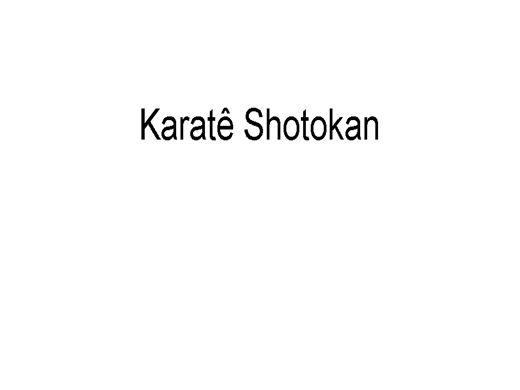 Curso Online de Karatê Shotokan