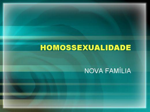 Curso Online de Homossexualidade e nova família