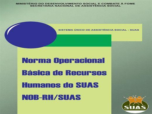 Curso Online de Norma Operacional Básica de Recursos Humanos do SUAS