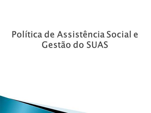 Curso Online de Política de Assistência Social e Gestão do SUAS