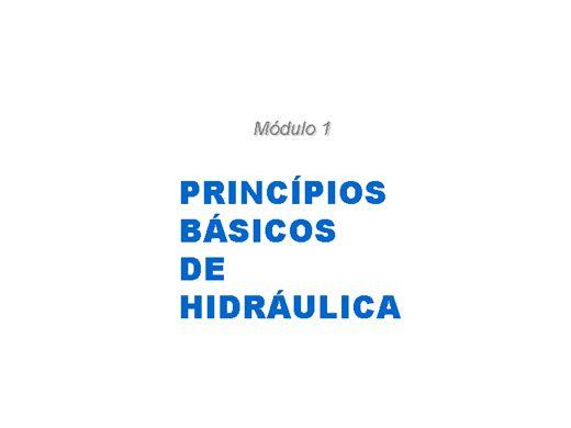 Curso Online de Princípios Básicos de Hidráulica para Bombas Centrífugas