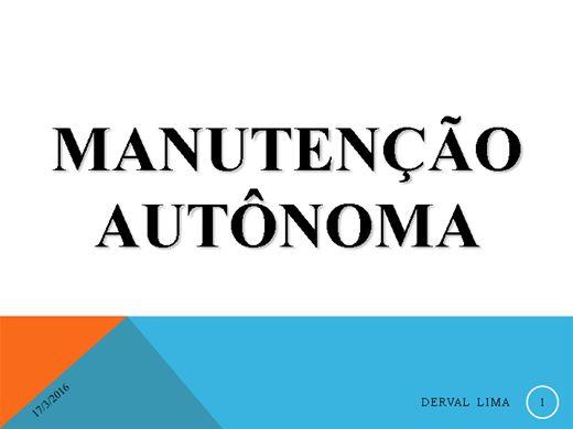 Curso Online de M.A - Manutenção Autônoma